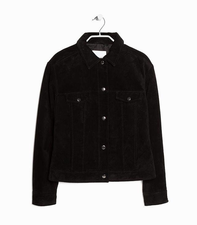 Mango Buttoned Suede Jacket