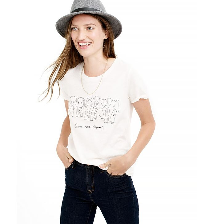 J.Crew for David Sheldrick Wildlife Trust Save More Elephants Tee