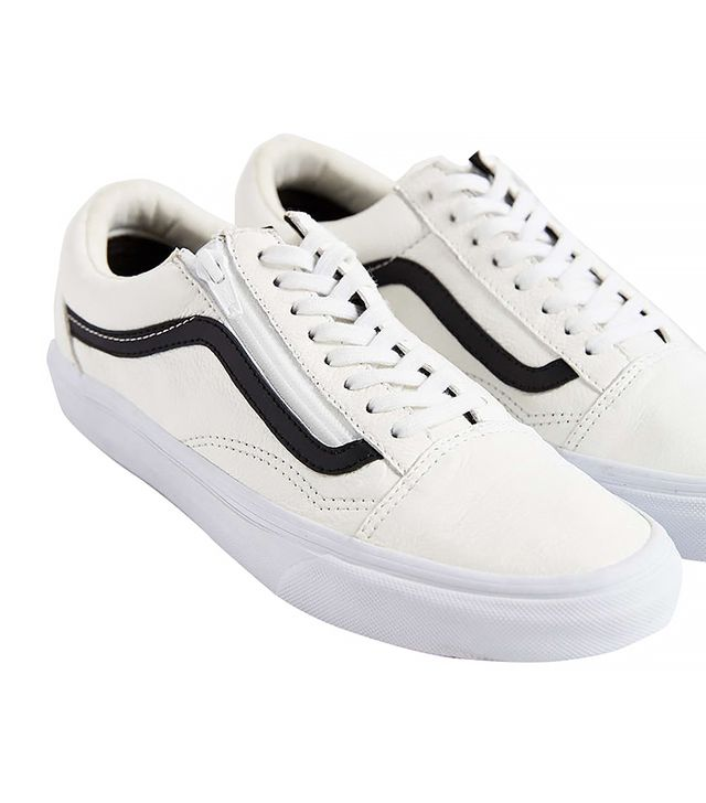 Vans Leather Old School Zip Sneakers
