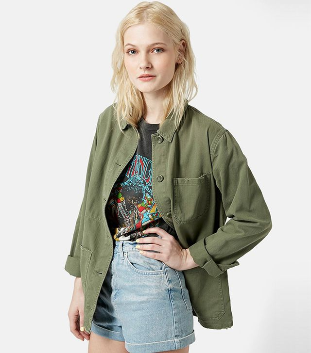Topshop Saunders Long Shirt Jacket