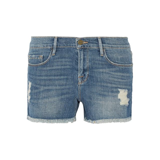 Frame Denim Le Cutoff Distressed Denim Shorts