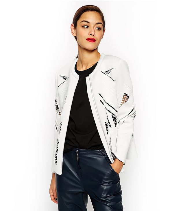 ASOS Premium Bomber Jacket With Embroidery