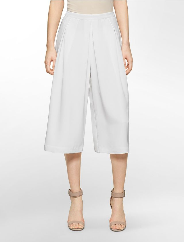 Calvin Klein White Label Pleated Front Culotte Pants
