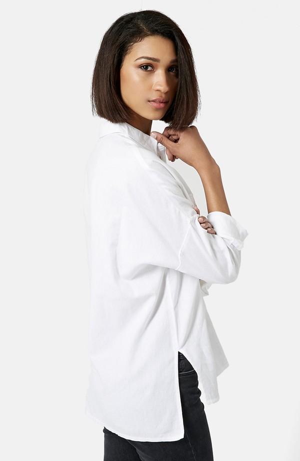 Topshop Oversize Lightweight Chambray Shirt