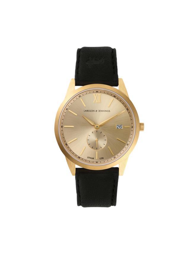 Larsson & Jennings Saxon Gold Suede Watch