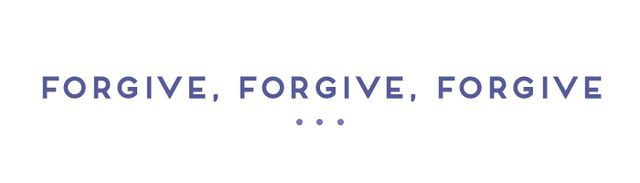 We're all accustomed to the usual form of forgiveness, where you excuse someone for any wrongdoing against you. But what about when you need to forgive yourself for something? Morris...