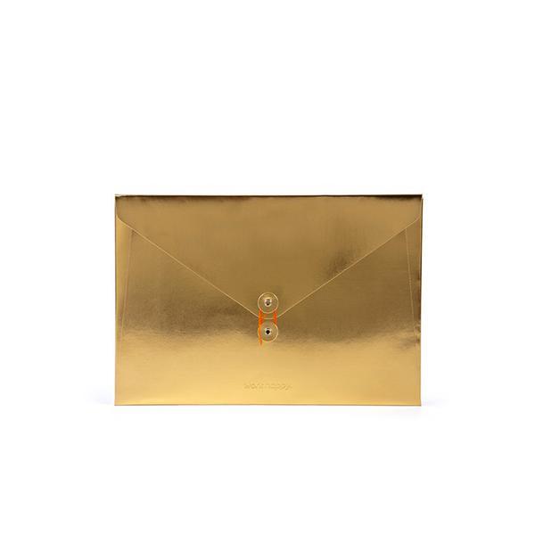 Poppin Metallic Gold Soft Cover Folio