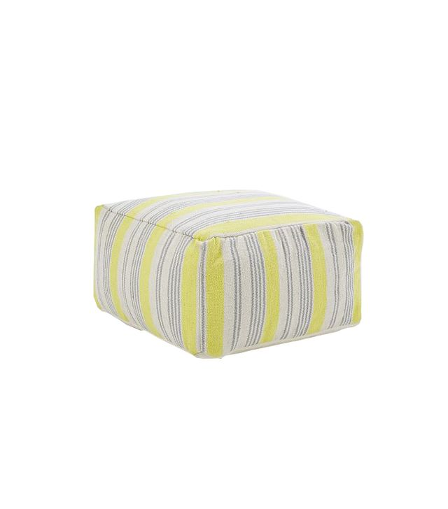 West Elm Barber Stripe Pouf
