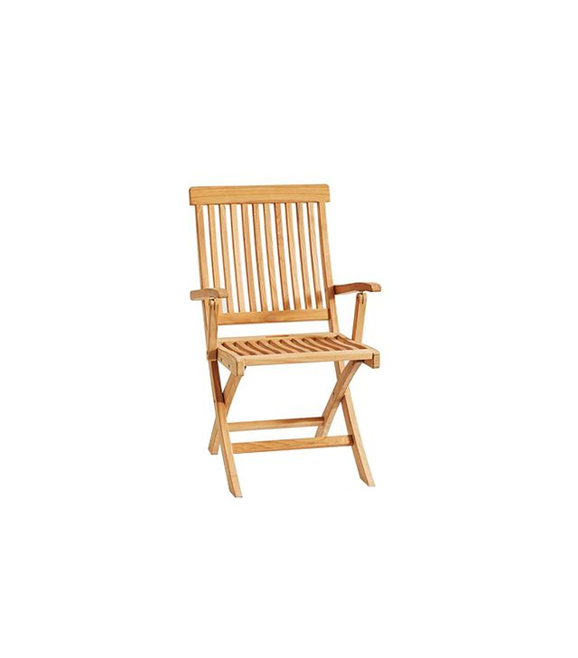 Pottery Barn Larkspur Teak Folding Chair
