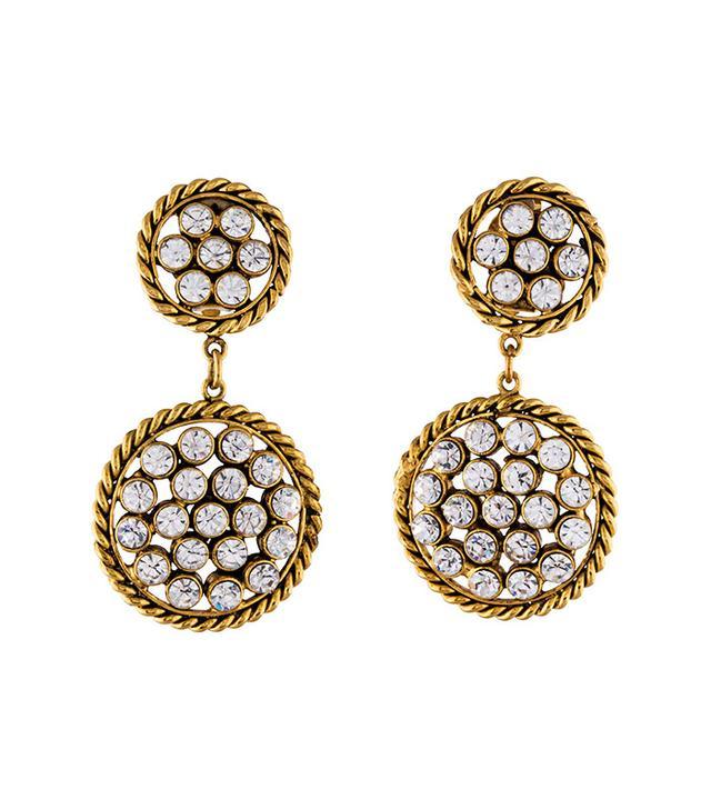 Chanel Vintage Crystal Chandelier Earrings