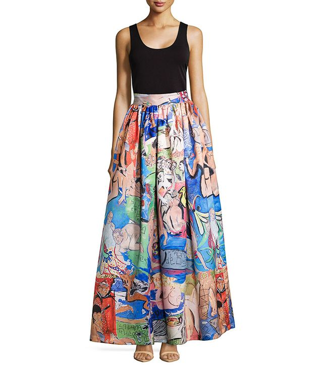 Alice + Olivia Tina Printed Ball Skirt
