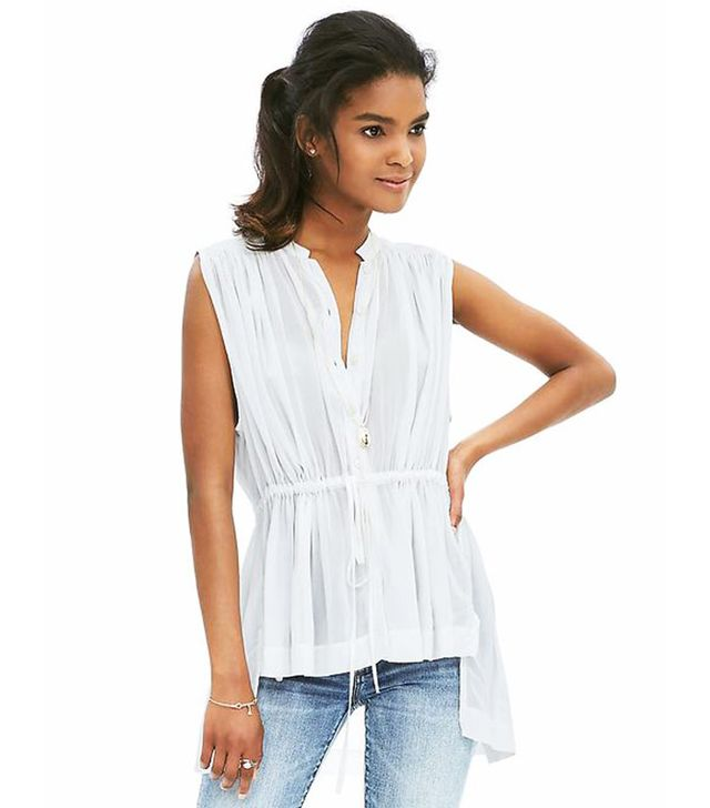 Banana Republic Drawstring Sleeveless Top