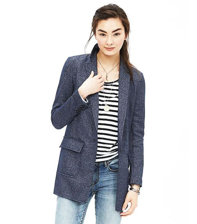Banana Republic Textured Knit Blazer