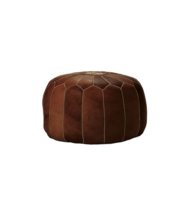 Serena & Lily Moroccan Leather Pouf