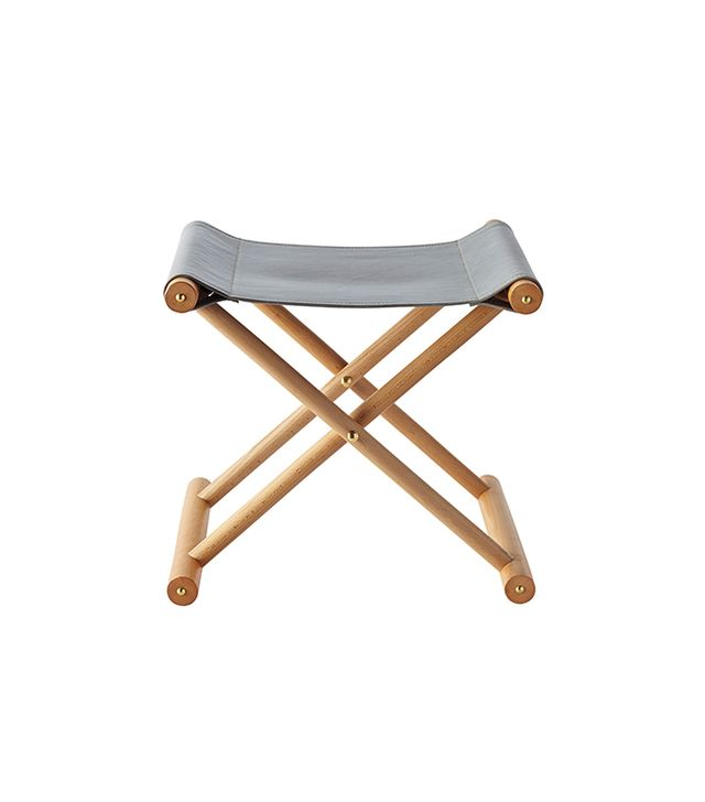 Serena & Lily Cooper Leather Stool