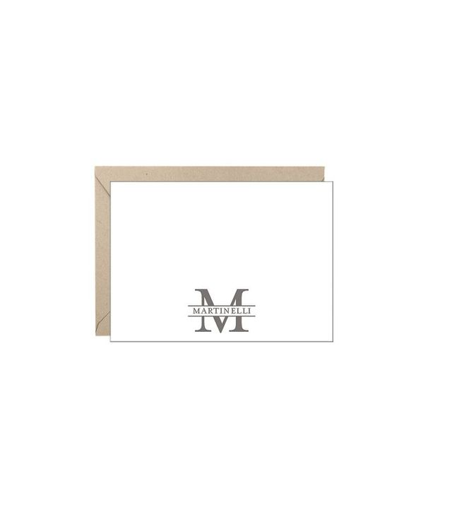 Paper Source Monogram Border A6 Stationery