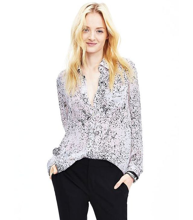 Banana Republic Abstract Print Boyfriend Shirt