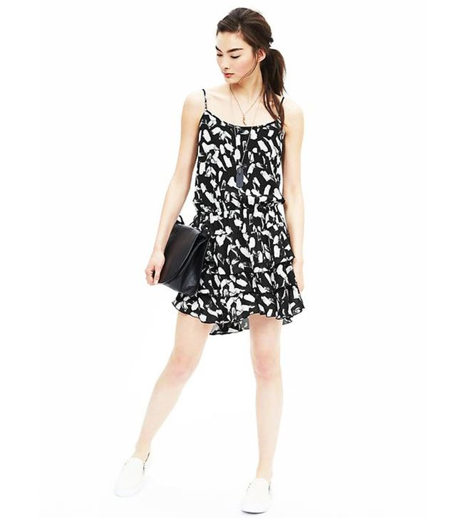 Banana Republic Print Ruffle Dress
