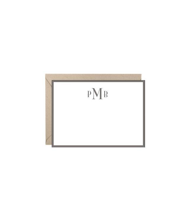 Paper Source Monogram Border A6 Stationery