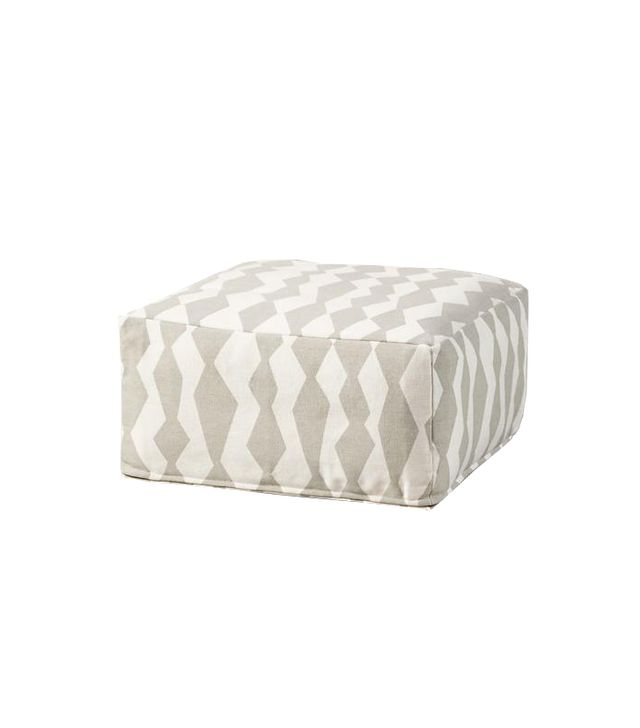Land of Nod Diamond Pouf
