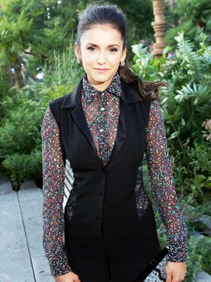 Nina Dobrev Shows Us How to Transition a Romper Into Fall