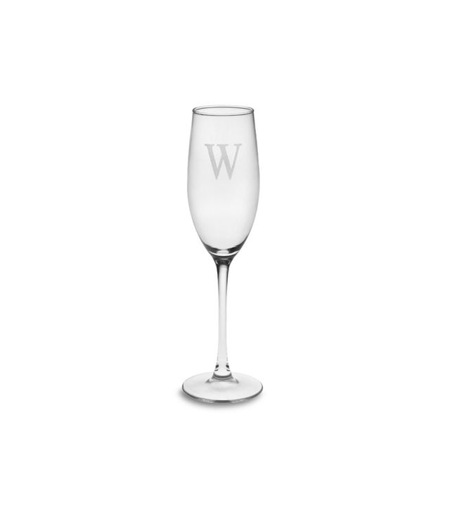 Williams Sonoma Monogrammed Champagne Flute