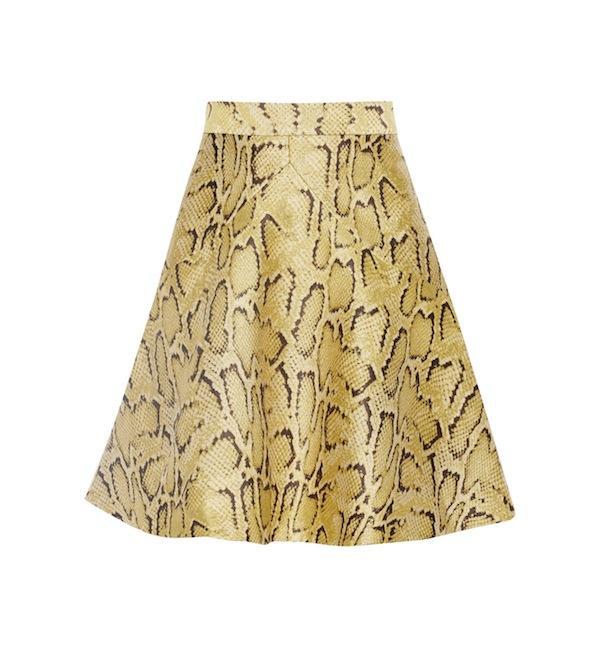Stella McCartney Lesley Snake-Effect Jacquard Mini Skirt