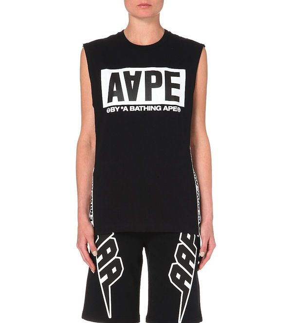 AAPE Branded Cotton-Jersey Vest Top