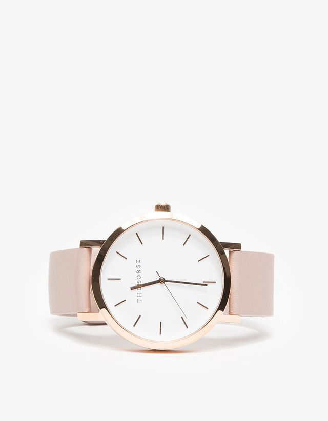 The Horse Rose Gold/Blush Band Watch