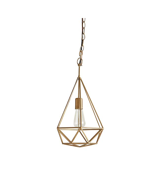 Anthropologie Hexacut Pendant Lamp