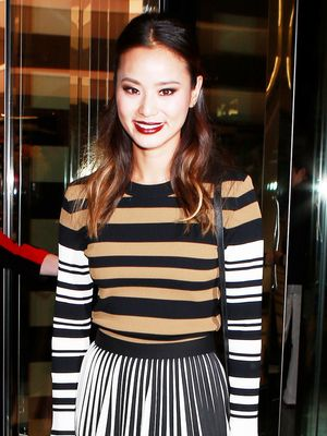 Jamie Chung Shows Us the Right Way to Mix Stripes