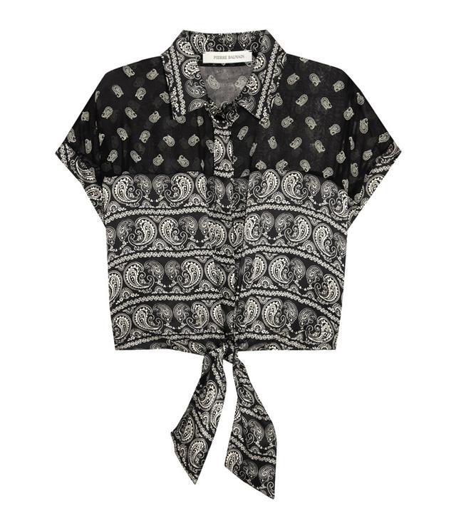 Pierre Balmain Printed Silk Shirt