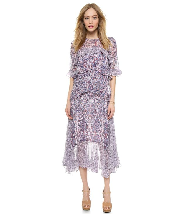 Rebecca Taylor Paisley Double Layer Dress