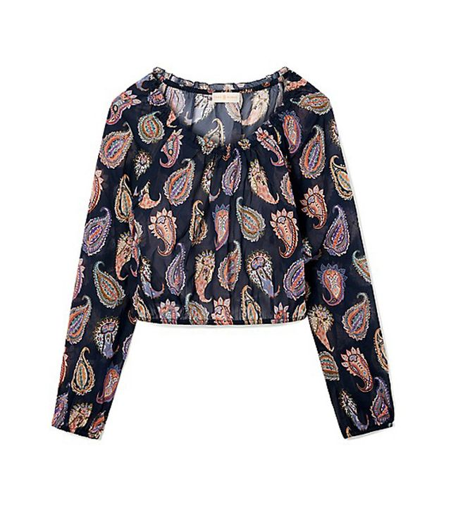 Tory Burch Paisley Cropped Shirt