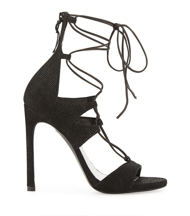 Stuart Weitzman Leg Wrap Lace-Up Sandals