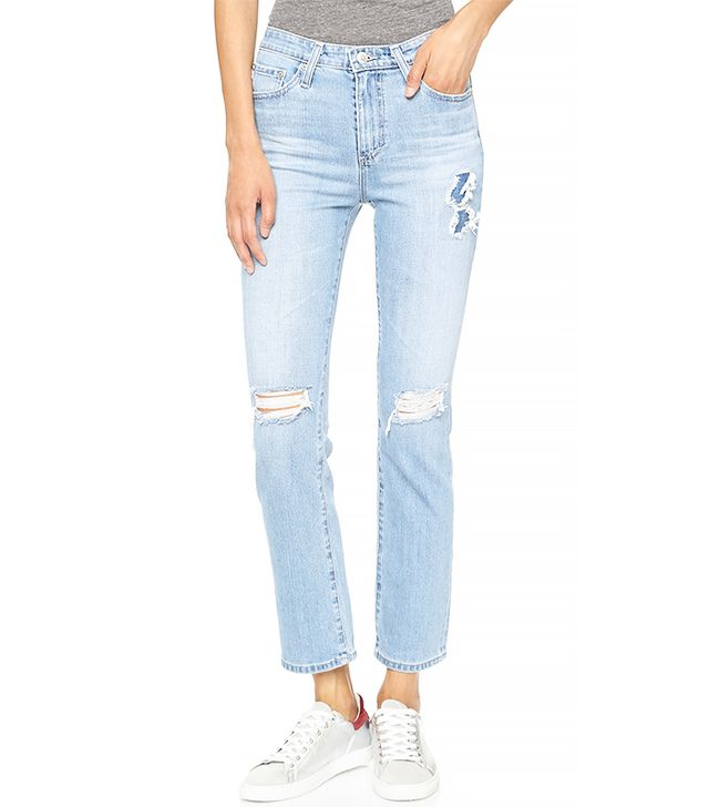 Alexa Chung for AG Sabine High Waisted Straight Leg Jeans
