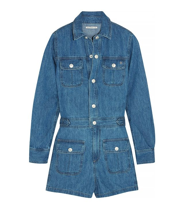 Alexa Chung for AG Loretta Denim Jumpsuit