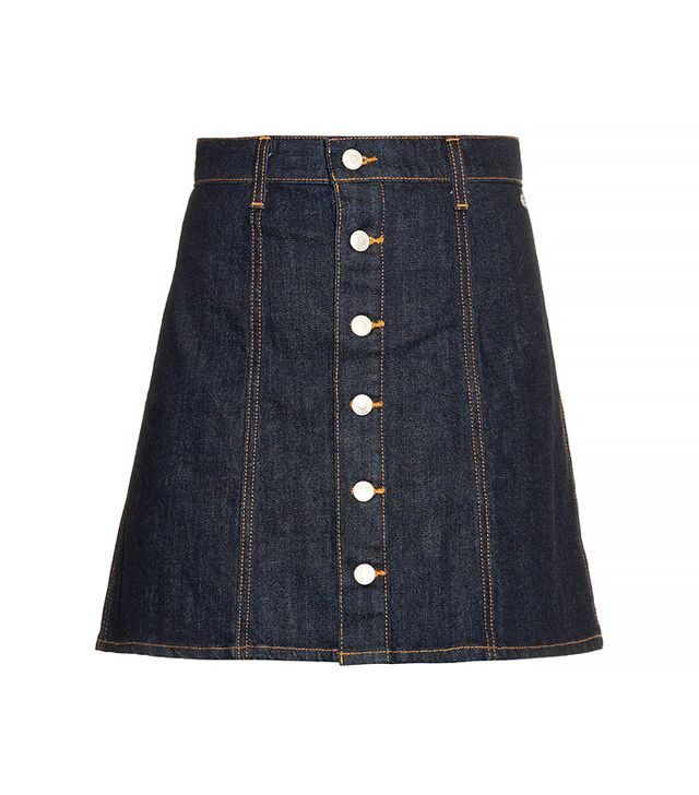 Alexa Chung for AG The Kety Denim A-line Mini Skirt