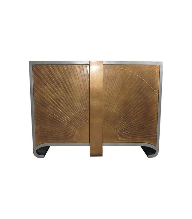 One Kings Lane Gold Art Deco Cabinet