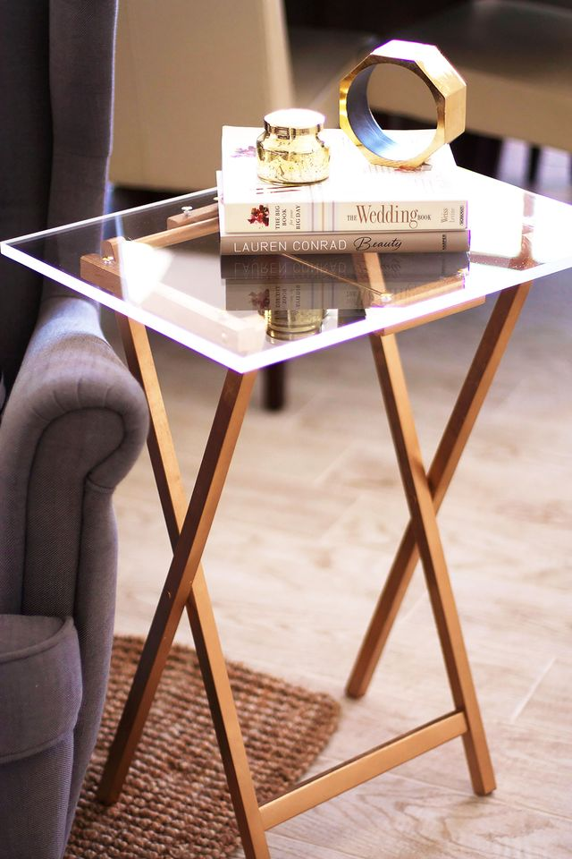 Lucite Tray Table