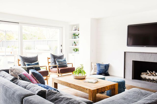 Living Room Decor Ideas - Shiplap Walls