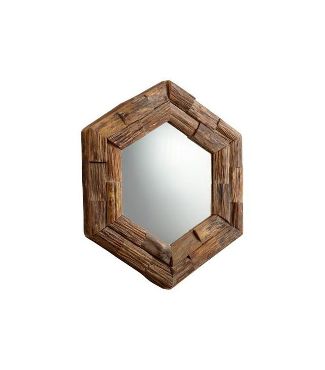 Lamps Plus Hexagon Wall Mirror