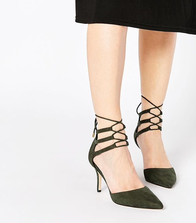 ASOS Sophia Lace-Up Pointed Heels