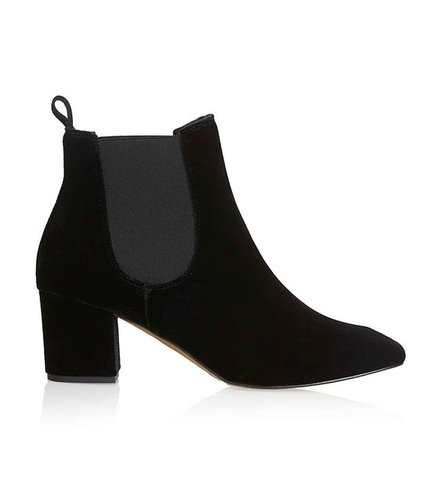 Topshop Mary Online Exclusive 60s Velvet Boots