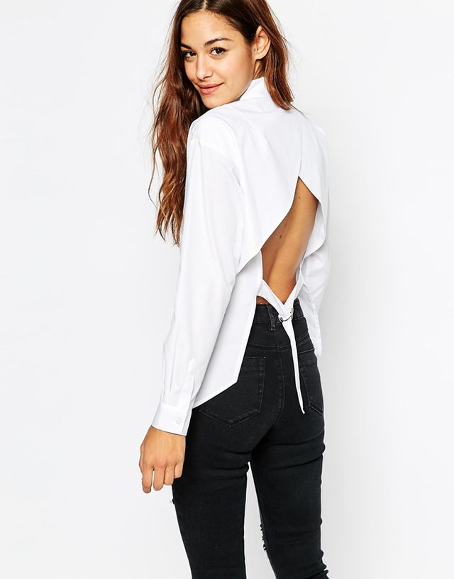 ASOS Open Back White Shirt
