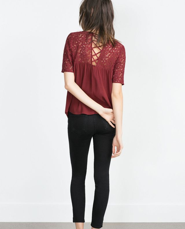Zara Guipure Lace Blouse