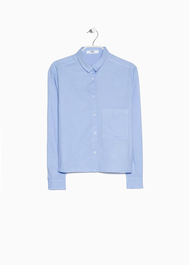 Mango Pocket Cropped Shirt