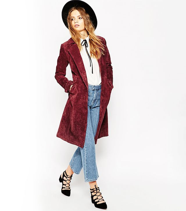 ASOS Suede Trench Coat