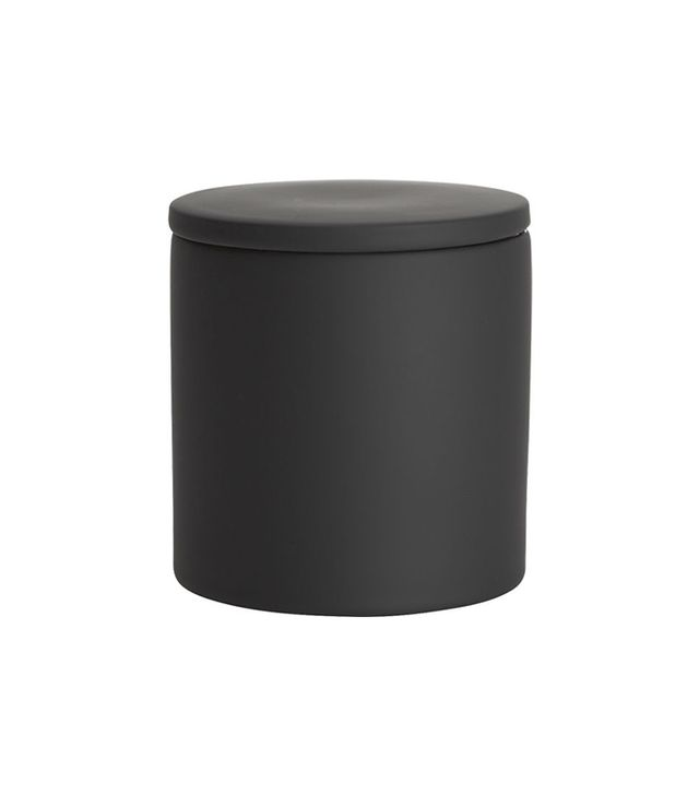 CB2 Rubber-Coated Black Canister