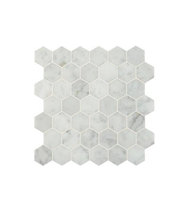 MS International Carrara White Hexagon Tile